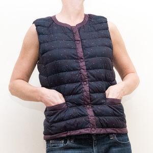 Uniqlo Women's Down Puffer Vest, Pockets, M